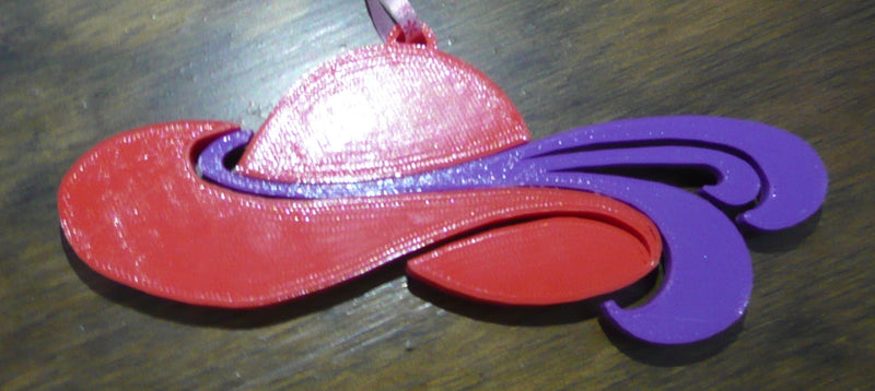 Ladies Red Hat Society Ornament Christmas Gift Present Lady 3D Printed Made in USA PR193
