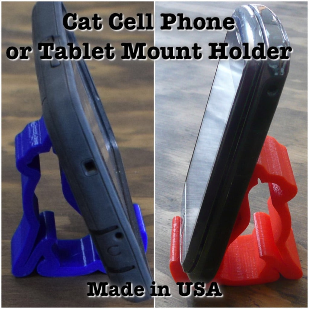 Cat Multi Purpose Tablet Cell Phone Mount Holder Universal Kitty 3D Printed Made in USA PR103