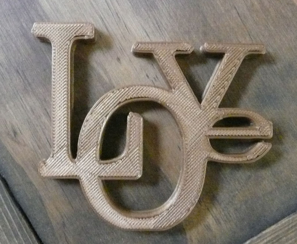 Love Sign Quote Home Decor Wall Decoration 3D Printed Made in the USA PR170