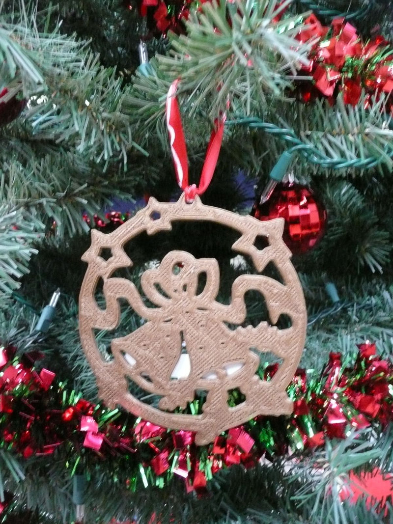3d Printed Christmas Ornaments.Bells Merry Christmas Tree Hanging Ornament Holiday Ornaments 3d Printed Pr152 2