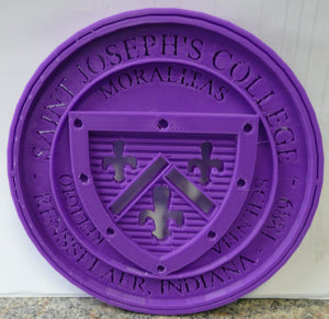 Saint Joseph's College SJC Crest Wall Hanging Table Shelf Home Decor 3D Printed Made in USA PR90
