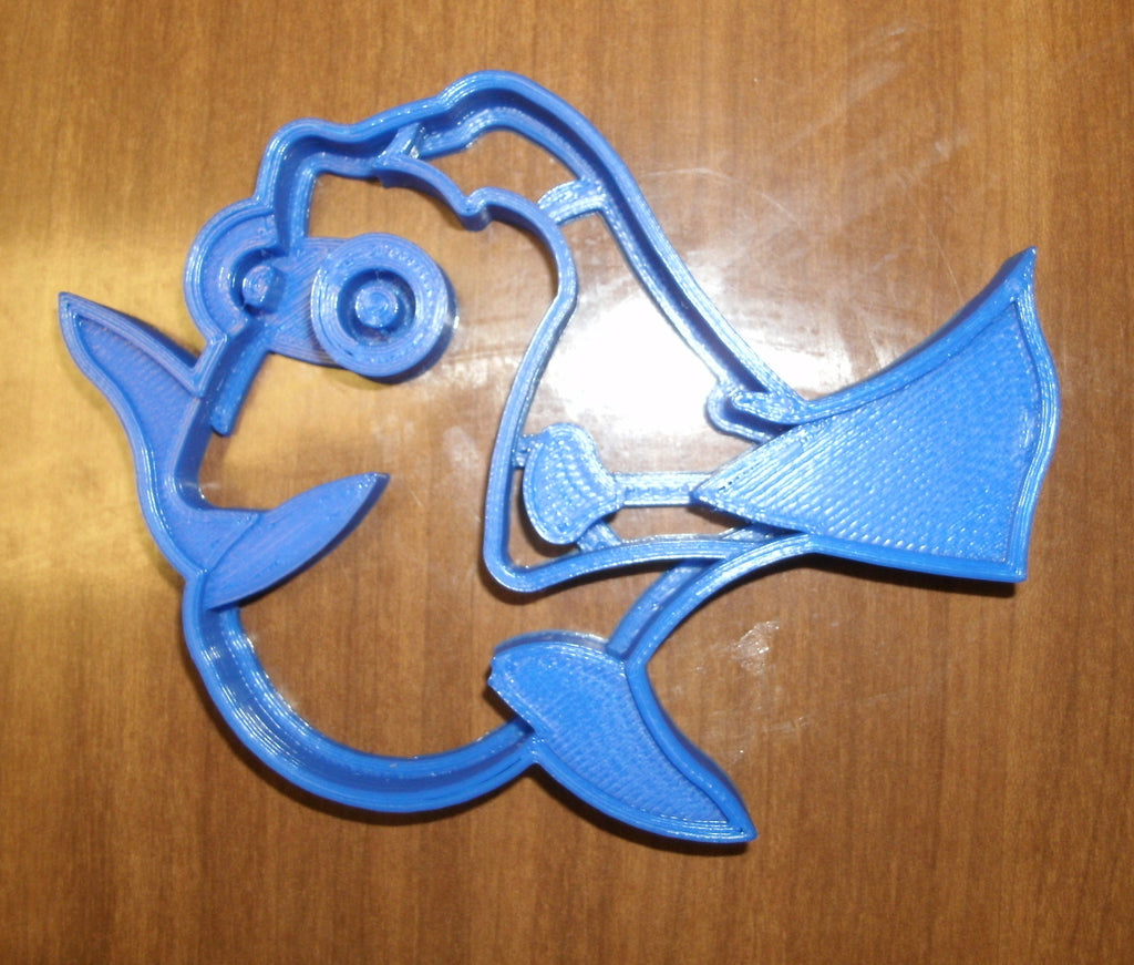 "Dory Fish Finding Nemo Cartoon Character Special Occasion Fondant Stamp Cutter or Cupcake Topper Size 1.75"" Made in USA FD524"