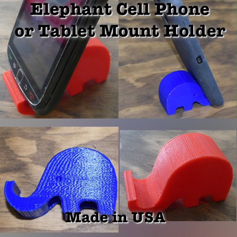 Elephant Multi Purpose Tablet Cell Phone Mount Holder Universal 3D Printed PR101