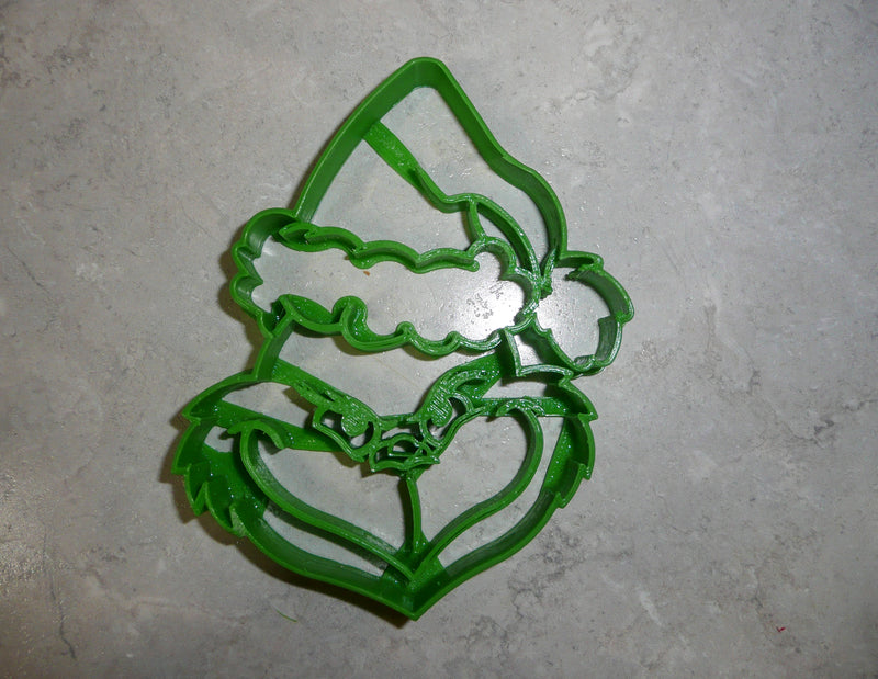 Grinch Head Dr Seuss Book Cartoon Character Christmas Movie Special Occasion Cookie Cutter Baking Tool Made In USA PR682