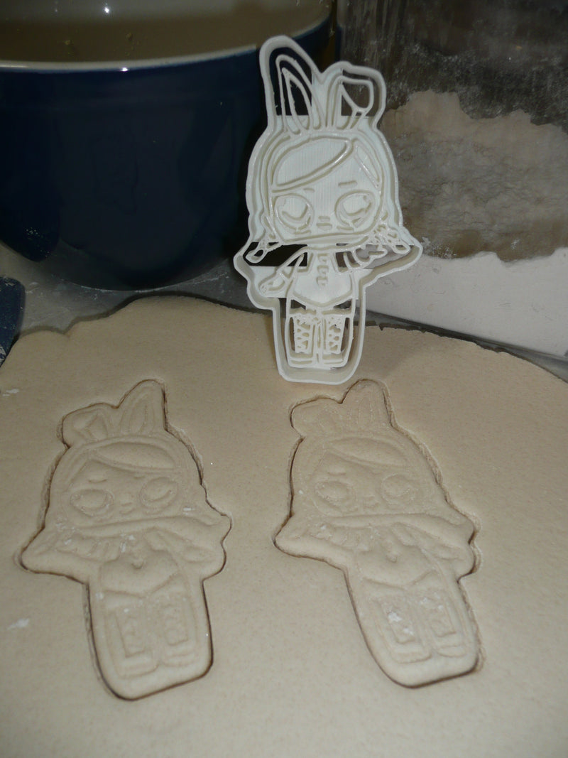 Hops Detailed Bunny Ears Surprise Doll Series Cookie Cutter USA PR2386