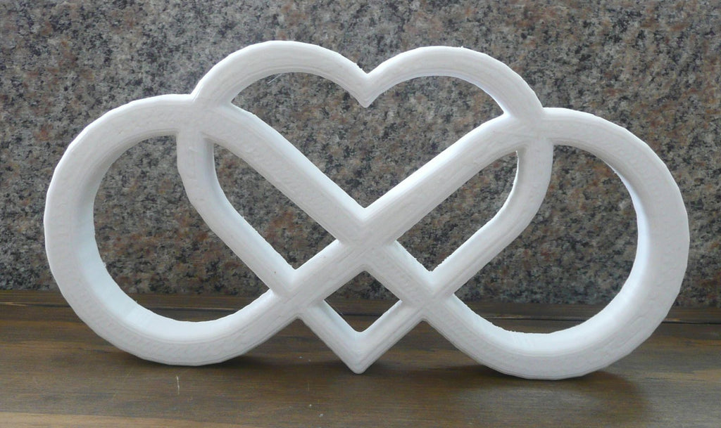 Infinity Heart Endless Love Home Decor Wall Art Quote 3D Printed PR57