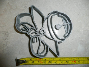 Jingle Sleigh Bell Christmas Carol Song Winter Melody Special Occasion Cookie Cutter Baking Tool Made In USA PR2225