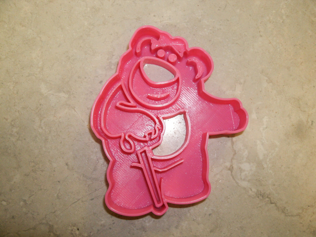"Lotso Toy Story Hugging Bear Cartoon Disney Pixar Movie Character Special Occasion Fondant Stamp Cutter or Cupcake Topper Size 1.75"" Made in USA FD509"