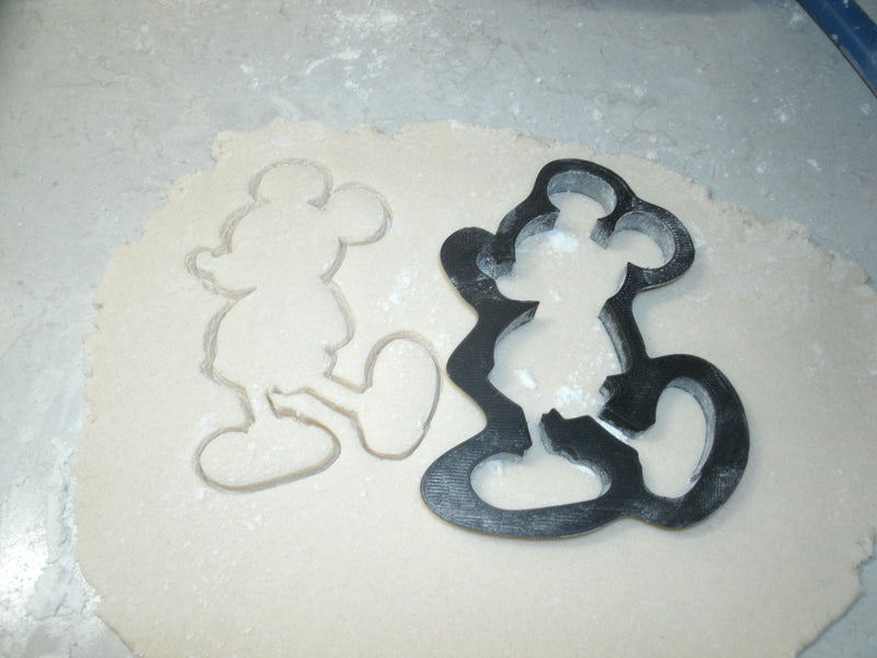 Mickey Mouse Full Body Silhouette Cartoon Disney Character Cookie Cutter Baking Tool Made In USA PR522