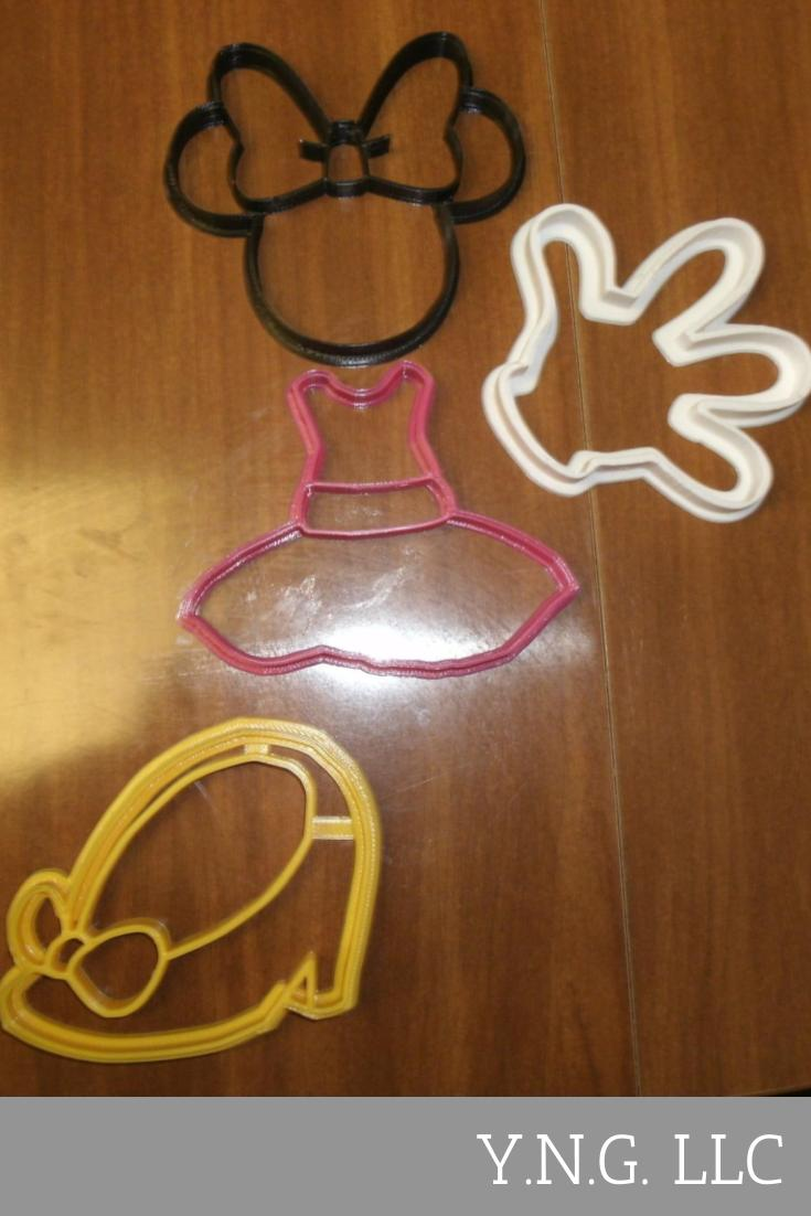 Minnie Mouse Cartoon Character Set of 4 Cookie Cutters USA PR533