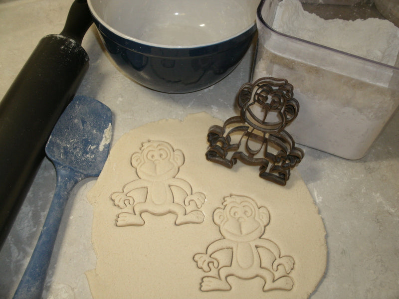 Monkey Tree Dwelling Primate Jungle Rain Forest Zoo Animal Special Occasion Cookie Cutter Baking Tool Made in USA PR575