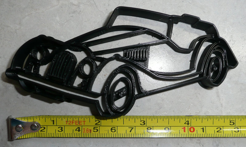 Morgan Car Automobile Unique Vehicle Hand Built Auto British English Make Special Occasion Cookie Cutter Baking Tool Made In USA PR2282