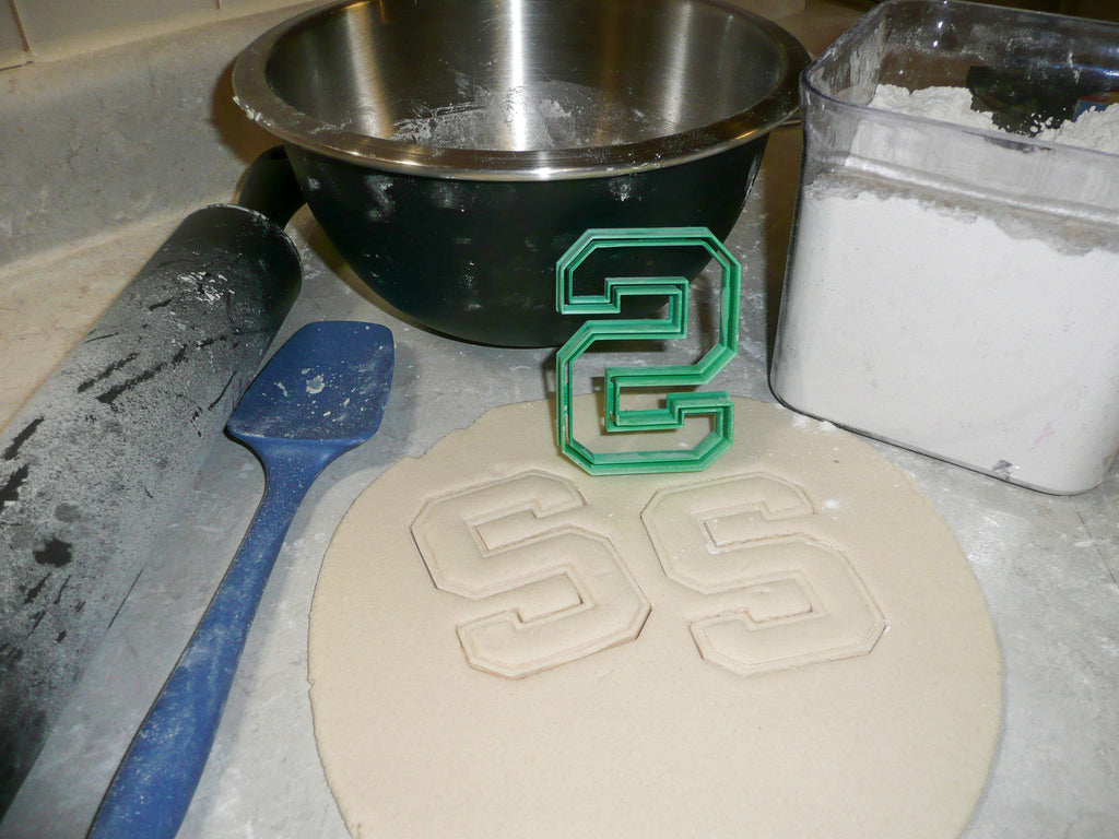 Michigan State MSU NCAA D1 Football Basketball S Logo Special Occasion Cookie Cutter Baking Tool Made In USA PR2226