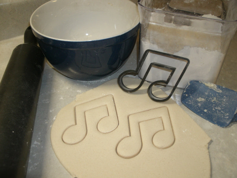 Classic Rock 1980s Radio Boombox Electric Guitar Music Note Cassette Tape Set of 4 Special Occasion Cookie Cutter Cake Fondant Baking Tool 3D Printed -Made in USA PR1011