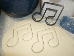 Double Music Note Notation Symbol Staff Special Occasion Cookie Cutter Baking Tool Made in USA PR609