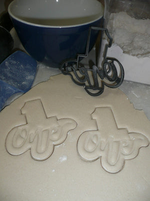 Number One 1 With Word Birthday Anniversary Cookie Cutter USA PR2402