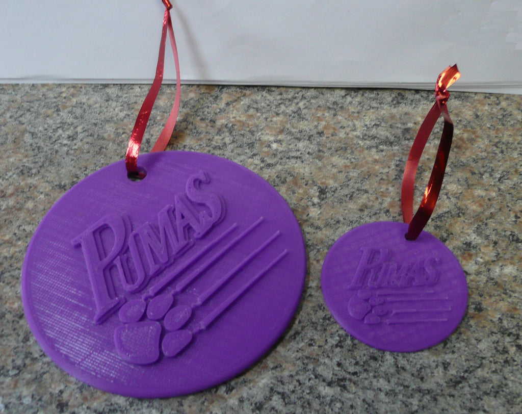 Saint Joseph's College SJC Pumas Hanging Ornament Home Decor 3D Printed Made in USA PR487