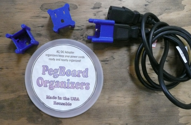 Peg Board Durable Plug Organizer Outlet Extension Cord 3d Printed Made In The USA PR11