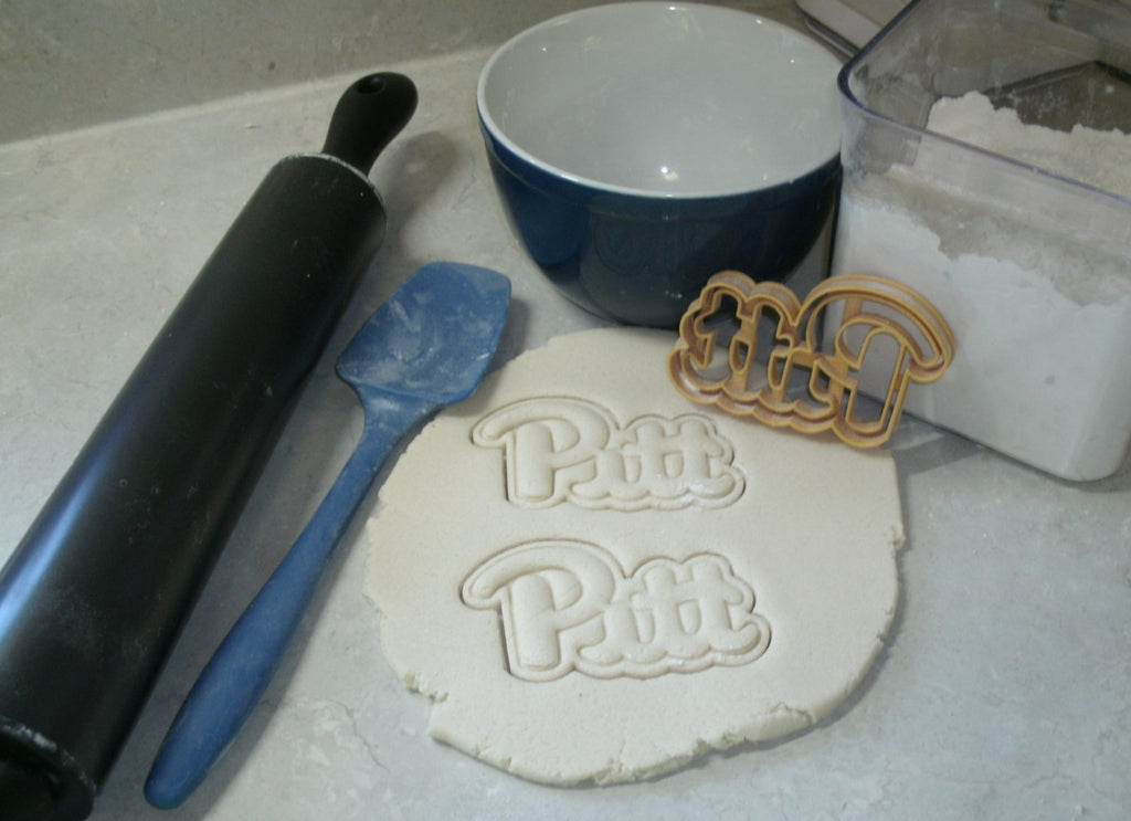 University of Pittsburgh Pitt Word Sports Athletics Cookie Cutter USA PR2681