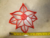 Poinsettia Plant Red Green Foliage Christmas Star Flower Special Occasion Cookie Cutter Baking Tool Made In USA PR2229
