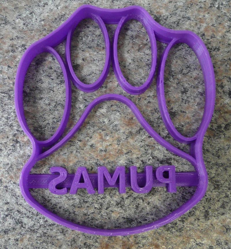 "Saint Joseph's College SJC Puma Paw Special Occasion Fondant Stamp Cutter or Cupcake Topper Size 1.75"" Made in USA FD313"
