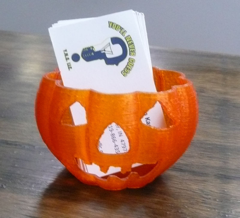 Pumpkin Halloween Home Decor Or Business Card Holder 3D Printed PR130