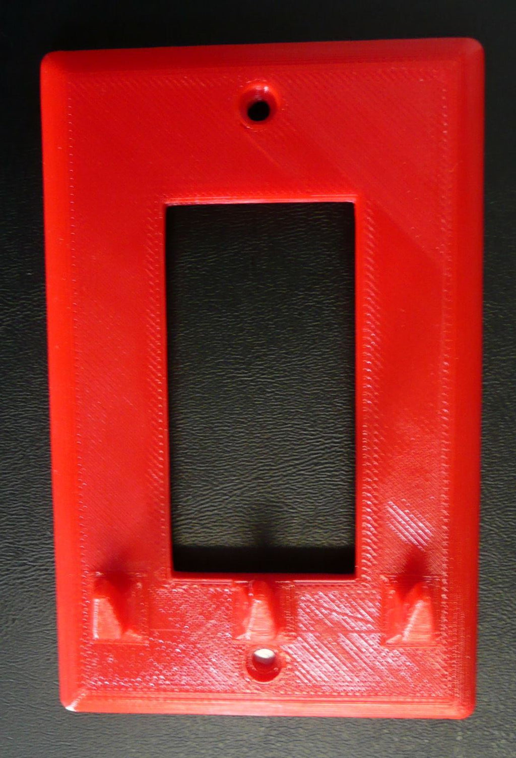 Light Switch Cover With 3 Hooks For Keys Triple Hook Multi Purpose 3D Printed - Made In USA PR55