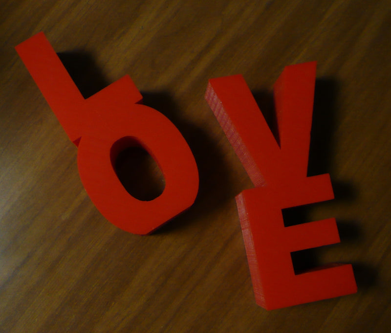 LOVE Bookends DVDs Books Bookshelf Home Decor Photo Prop 3D Printed Made in the USA PR486
