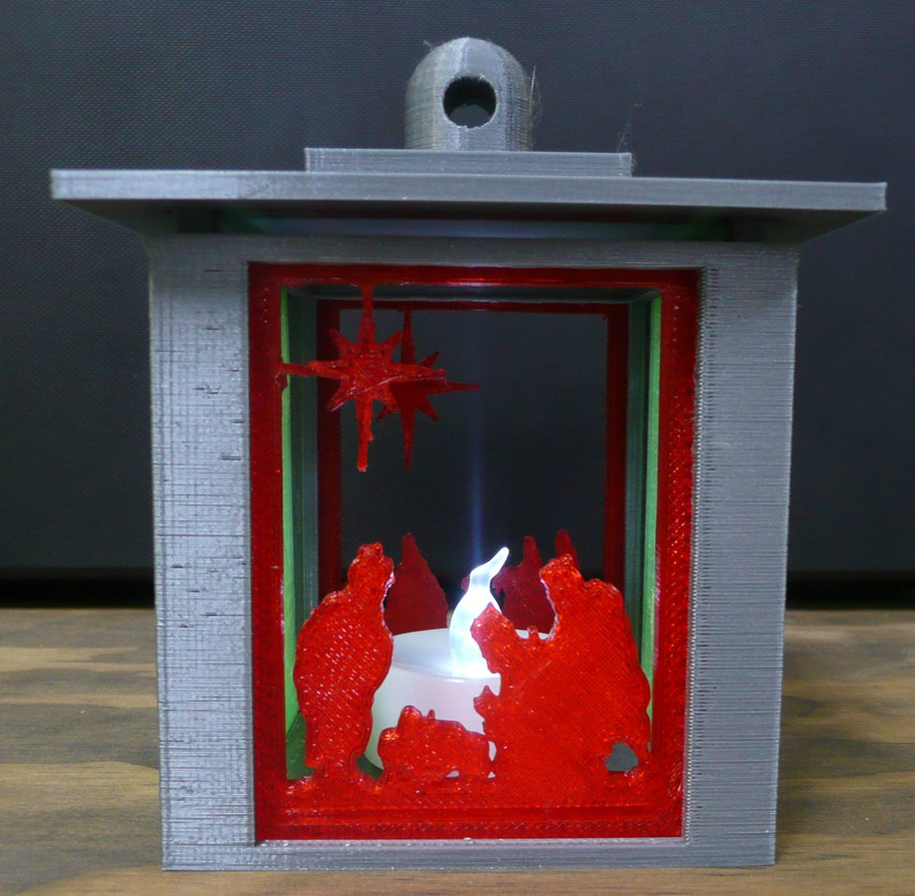 Nativity Christmas Swappable Interchangable Panels For Lantern Home Decor 3D Printed PR137
