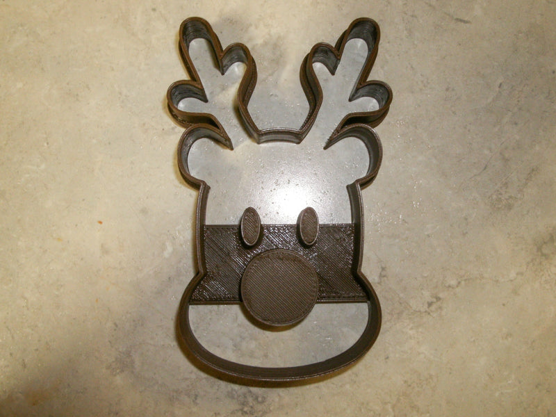 Rudolph Red Nosed Reindeer Santa's Sleigh Lead Kids Christmas Movie Character Special Occasion Cookie Cutter Baking Tool Made In USA PR2032