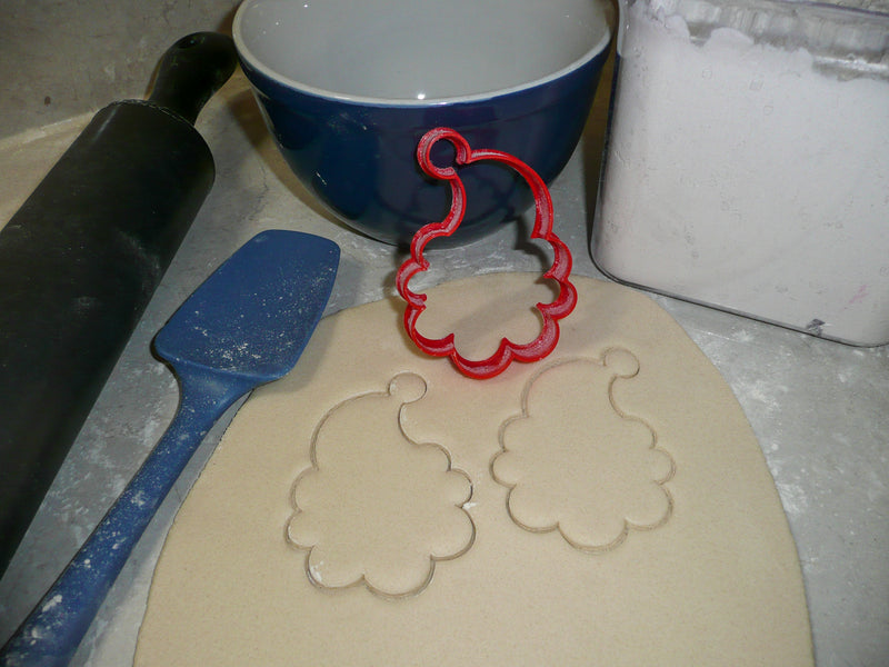 Santa And Mrs Claus Faces Outlines Christmas Set Of 2 Cookie Cutters USA PR1395