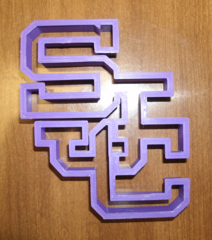 Saint Joseph's College SJC Block Letters Special Occasion Cookie Cutter Baking Tool Made in USA PR857