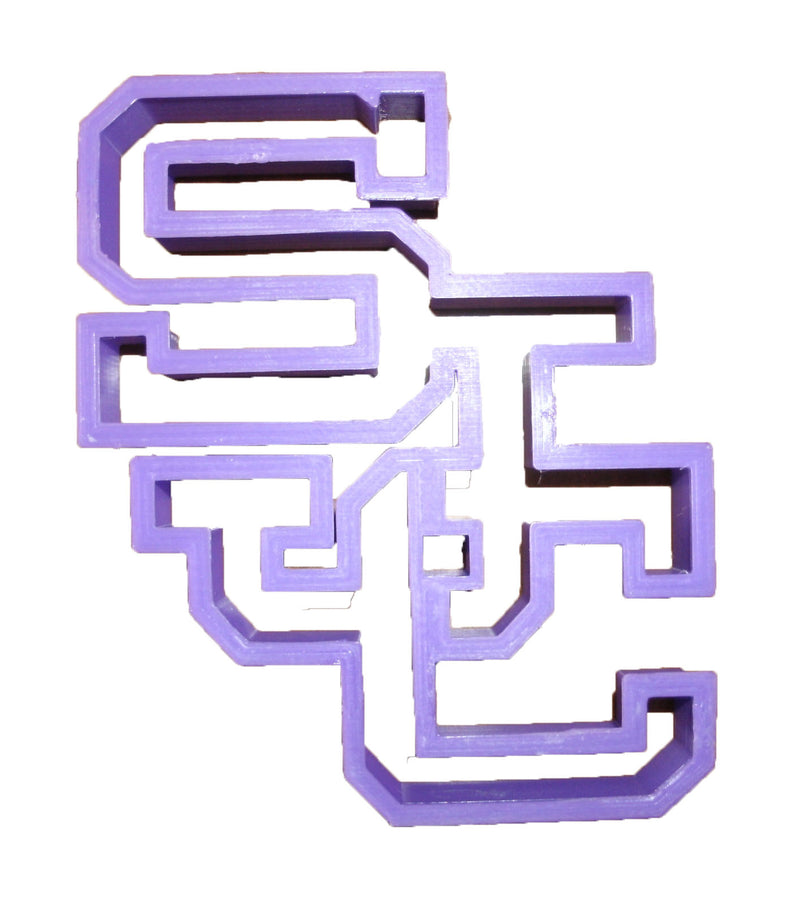 "Saint Joseph's College SJC Block Letters Special Occasion Fondant Stamp Cutter Or Cupcake Topper Size 1.75"" Made In USA FD857"