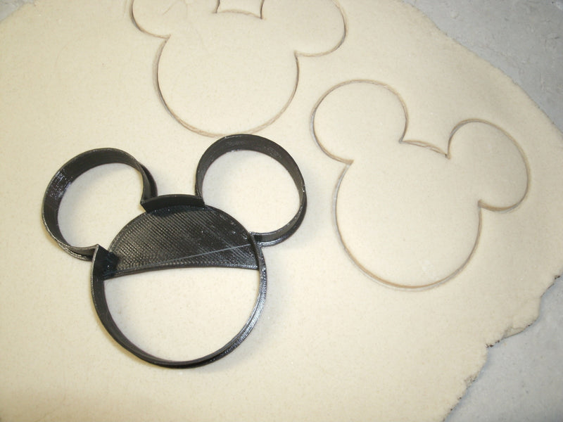 Mickey and Minnie Mouse Heads Disney Set of 2 Special Occasion Cookie Cutter Cake Baking Tool 3D Printed -Made in USA PR1017