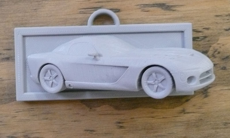 Raised Dodge Viper Sports Car Coming Out Of Wall Home Or Office Decor 3D Printed - Made In USA PR87