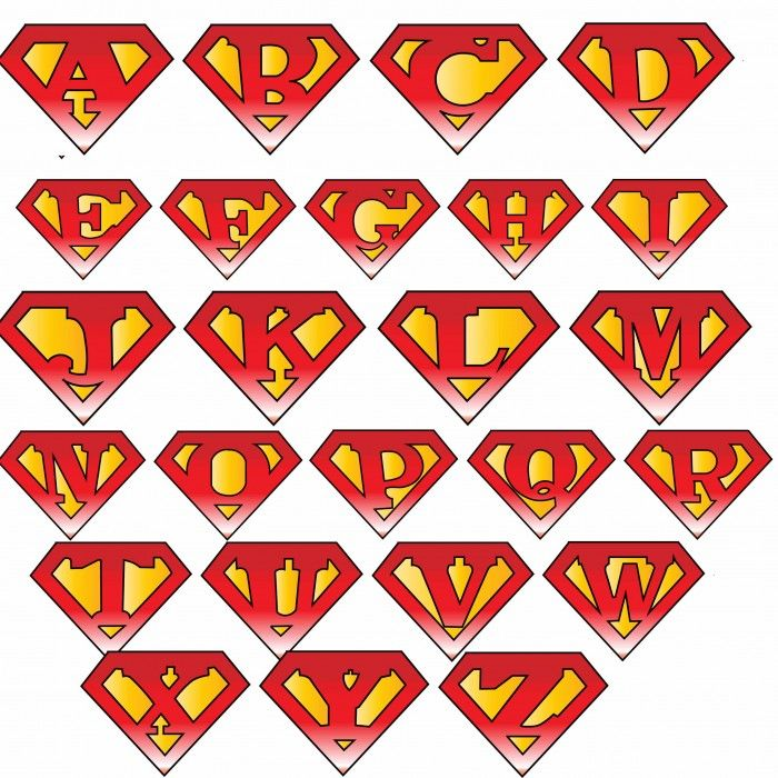 Superman Superhero Personalized Initial Cookie Cutter USA PR2275