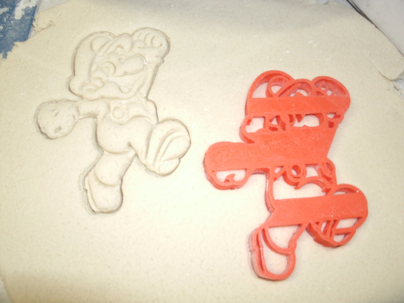 Super Mario Jumping Mario Brothers Nintendo Video Game Character Special Occasion Cookie Cutter Baking Tool Made in USA PR590