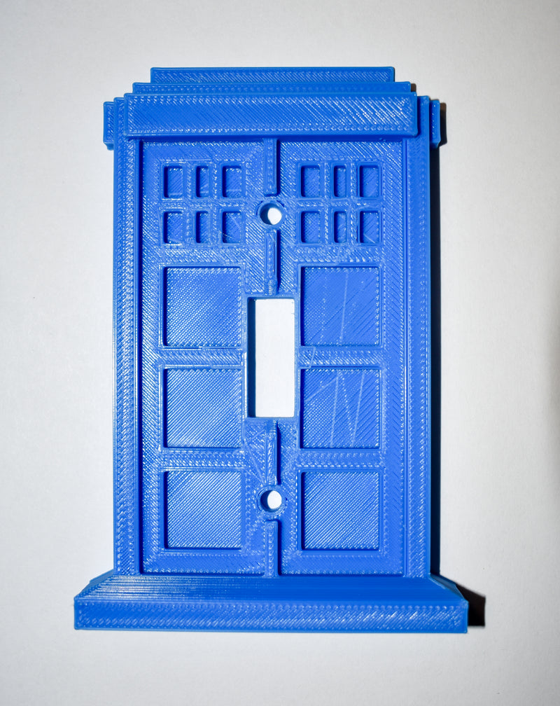 Tardis Dr Who Police Call Box Single Switch Wall Plate Made In USA PR40