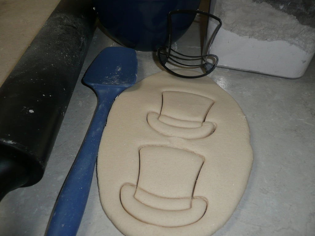 Top Hat Groom Wedding Magician Uncle Sam Snowman Cookie Cutter USA PR2503