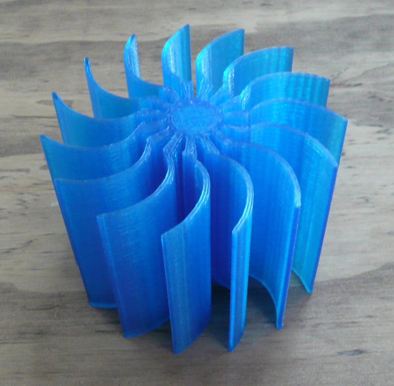 Spiral Business Card Holder 15 Spots Office Desk Holder Home Decor Organization 3D Printed Made in the USA PR373
