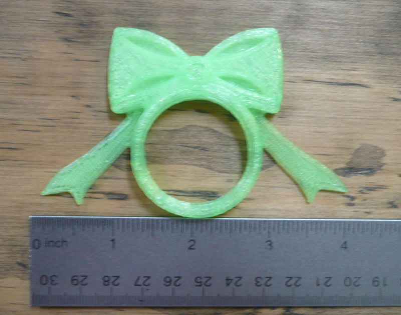 CHRISTMAS HOLIDAY BOW NAPKIN RING HOLDER RINGS 3D PRINTED IN USA PR189