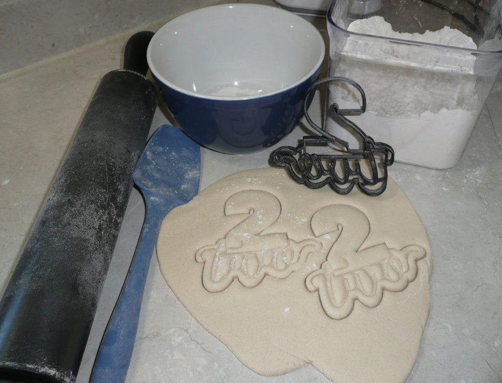 Number Two 2 With Word Birthday Anniversary Cookie Cutter USA PR2403