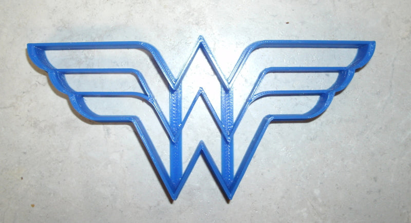 "Wonder Woman Superhero Logo Special Occasion Fondant Stamp Cutter or Cupcake Topper Size 1.75"" Made in USA FD511"