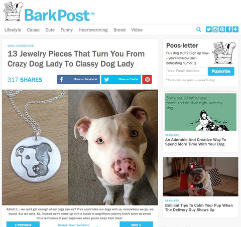 Custom dog necklace on BarkPost
