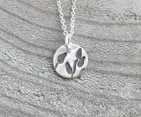 Handmade Recycled Silver Leaf Necklace