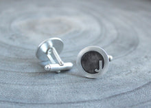 Silver Contemporary Letter Cufflinks