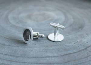 Contemporary Letter Silver Cuff Links
