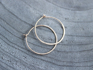 14 kt Gold Filled Hammered Hoop Earrings