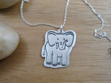 Elephant Necklace Recycled Silver