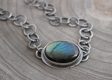 Labradorite Handmade Chain Statement Necklace